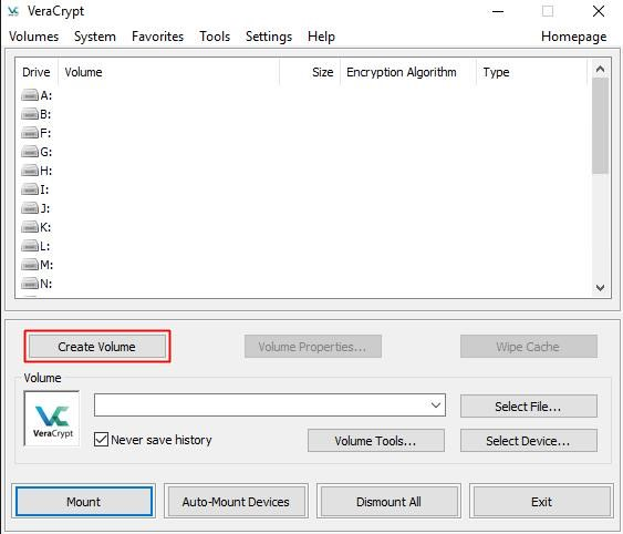 Create Hidden VeraCrypt Volume