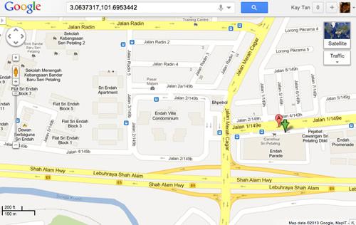 location message google map