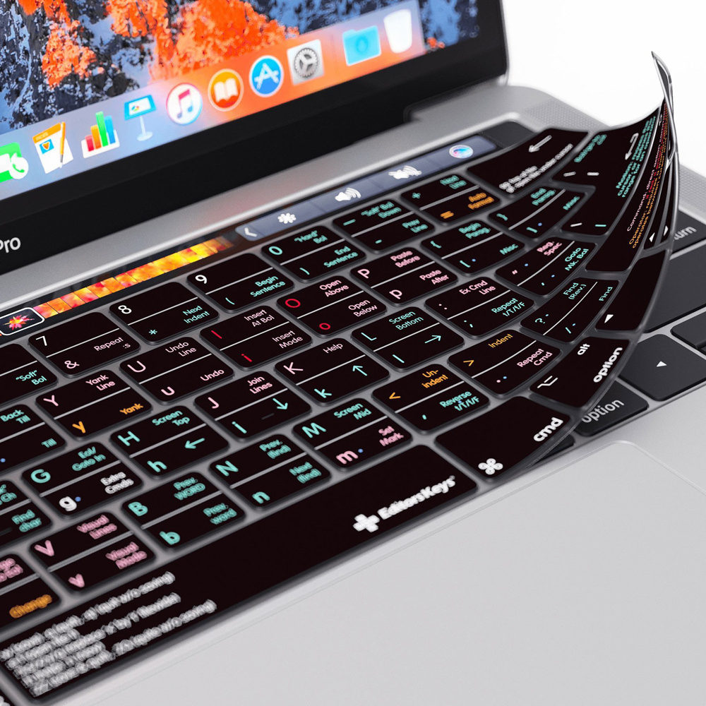 vim keyboard cover