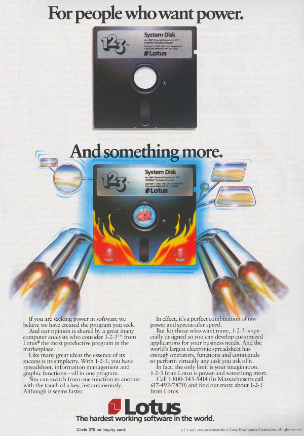 1-2-3 Advertisement from Byte