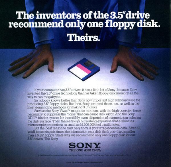 Sony 3.5'³ Floppy Disk