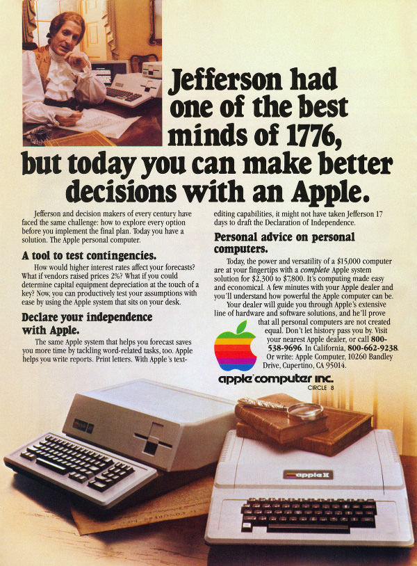 Apple II and III advertisement from Personal Computing