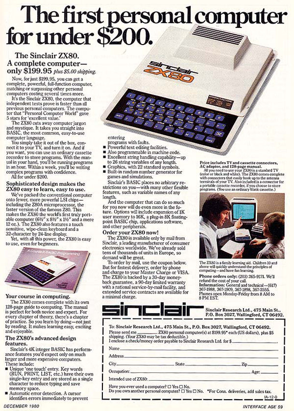 Computers: ZX80