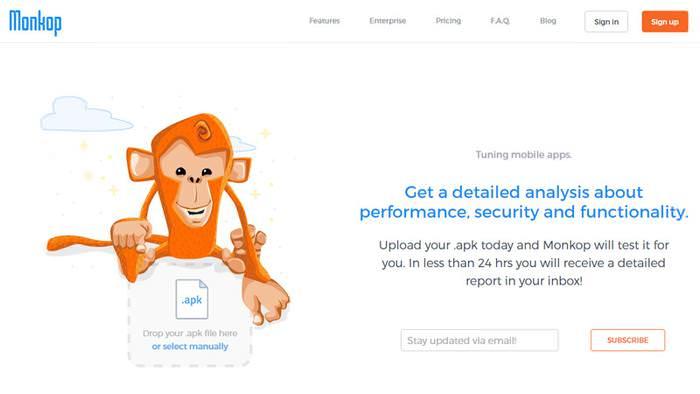 monkop landing page visual design