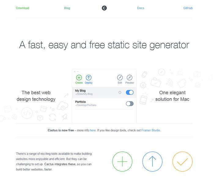 cactus for mac website app