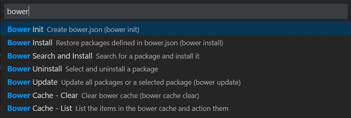 Bower Example
