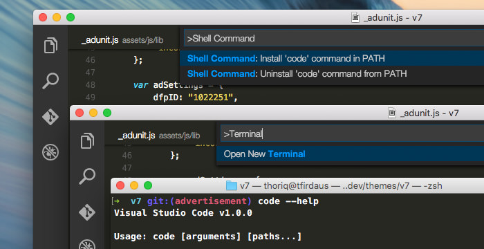 Installing Visual Code CLI in Command Pallete
