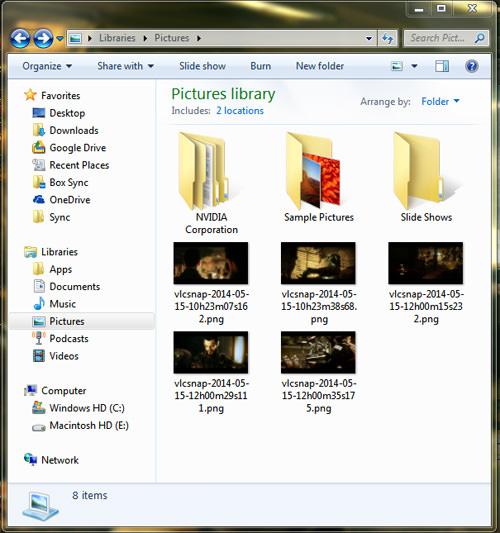 VLC Snapshots