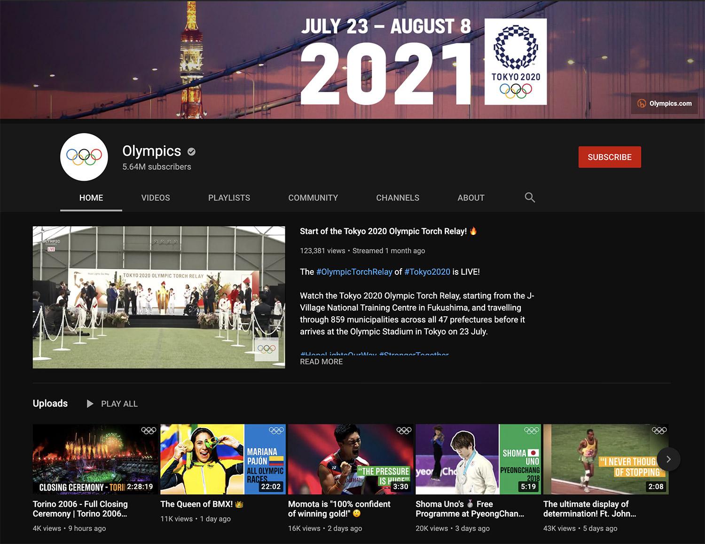 Olympics YouTube