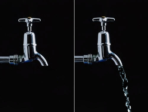 creating water from a tap
