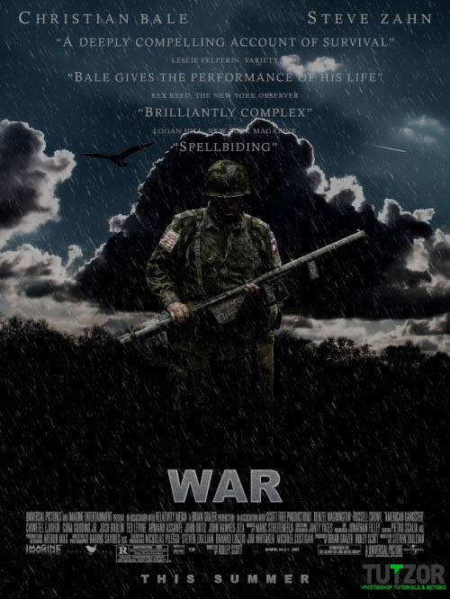 designing a war movie poster
