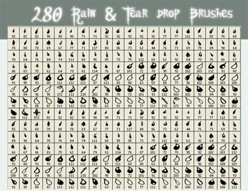 rain tear drop brushes