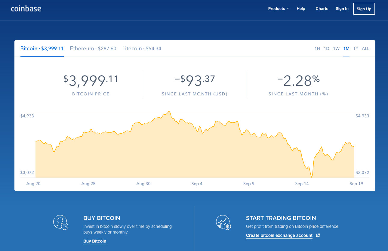 coinbase bitcoin exchange
