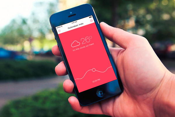 showcase of weather app ui design for your inspiration - App Design Ideas