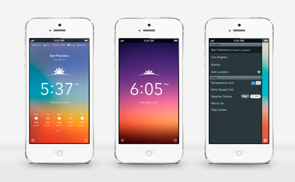 50 Weather App UI Design For Your Inspiration - Hongkiat