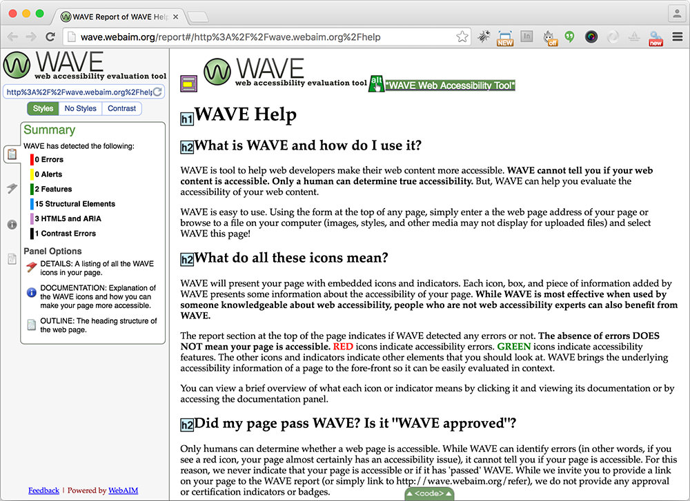 WAVE accessibility check techcrunch