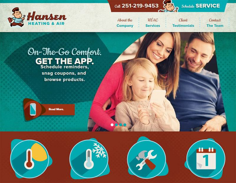 Hansen Air Hvac Website