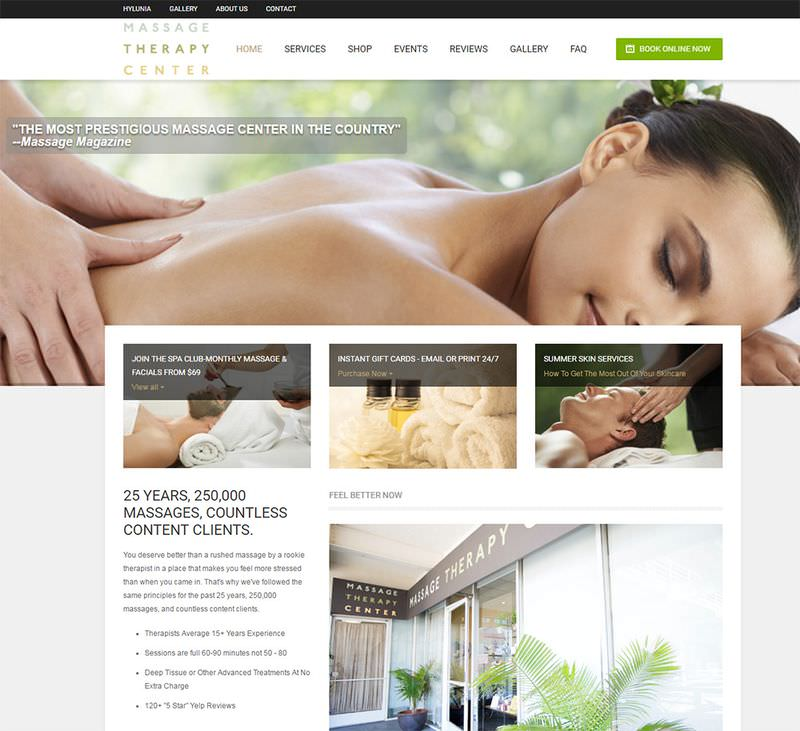 Massage Therapy Center Website
