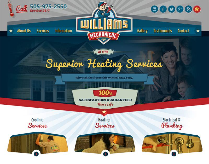 Williams Mechanical Website