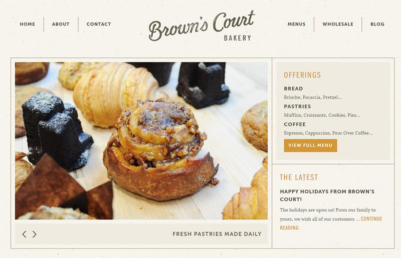 Browns Court Bakery Website