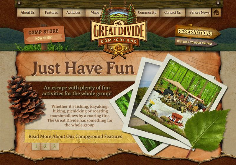 Great Divide Campground Website