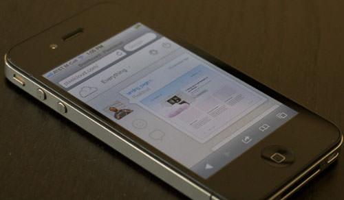 reponsive website iphone