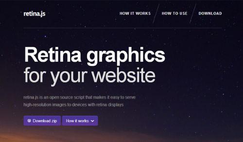 Retina.js JavaScript library open source