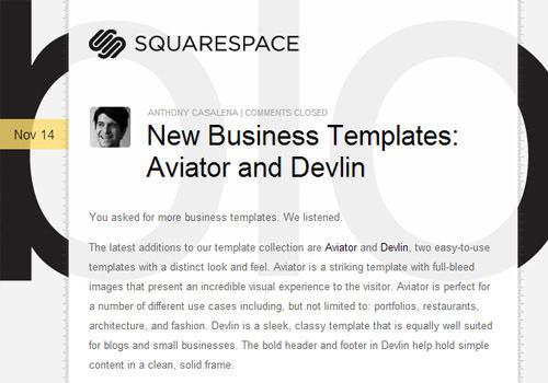 Squarespace transparent website layout css design