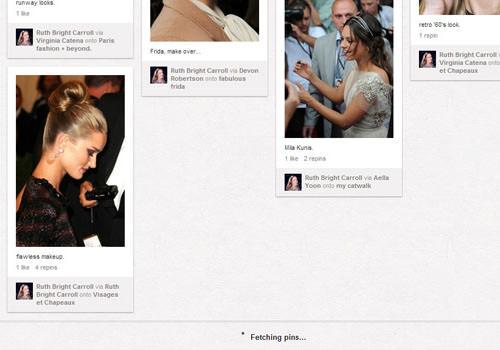 Pinterest infinite scrolling pins homepage