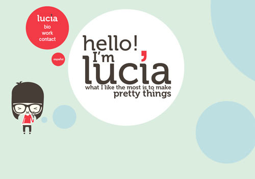 Lucia Soto freelance design portfolio circular website designs