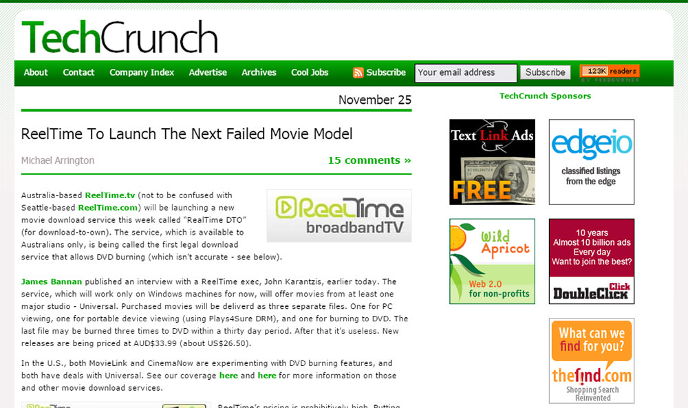 techcrunch circa 2006
