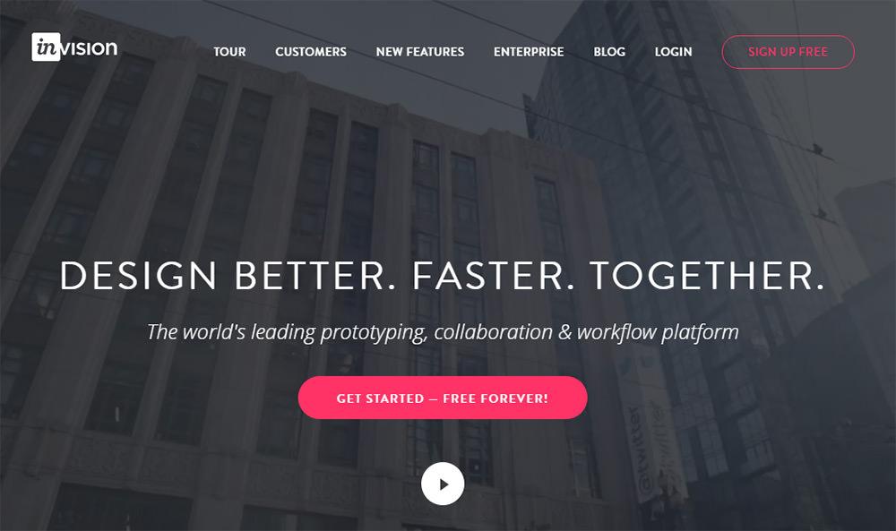 invision homepage