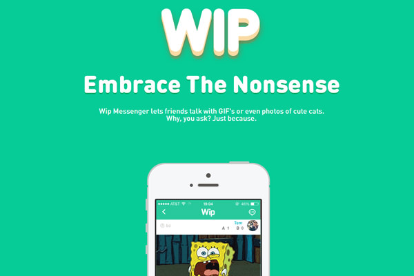 wip messenger iphone app website landing page