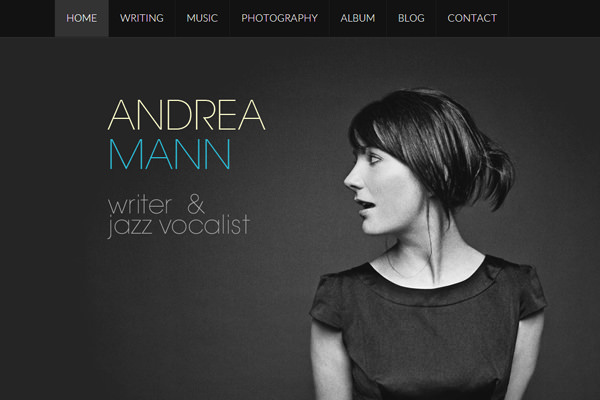 self portrait portfolio website andrea mann
