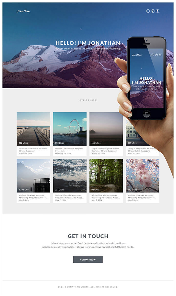 50 best website interface photoshop tutorials hongkiat building the responsive timeline portfolio page here is one more similar timeline portfolio tutorial but this time it has responsive design baditri Images