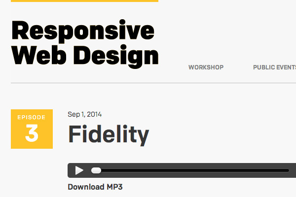responsive design podcast