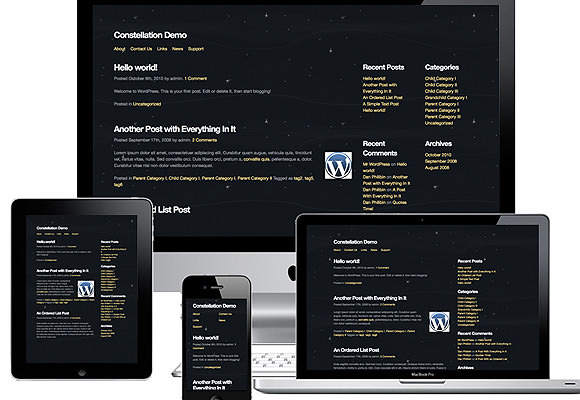 Constellation Theme for WordPress developers