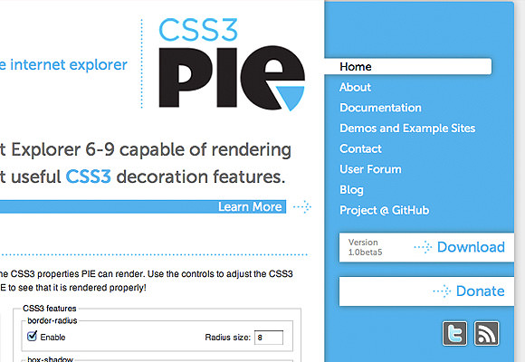 CSS3 PIE custom CSS properties for Internet Explorer