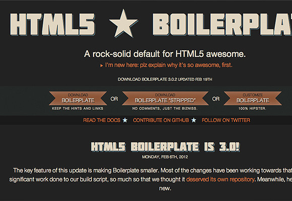 HTML5 Boilerplate for web developers