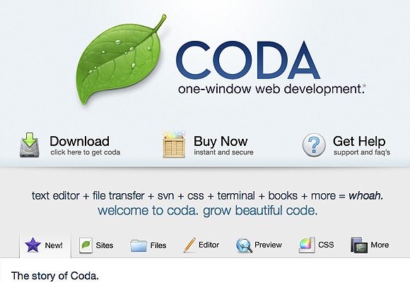 Coda App for Mac OS X Lion