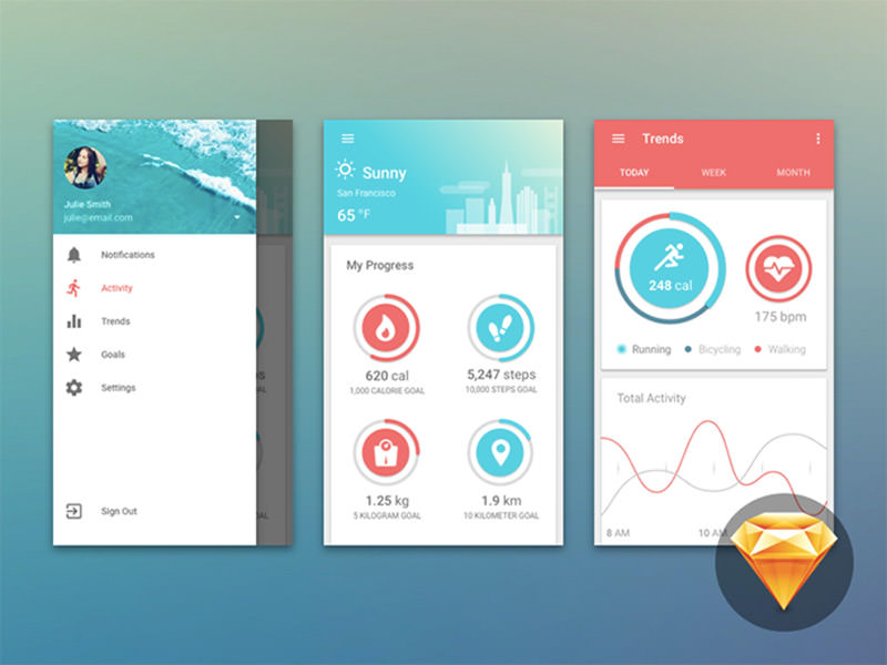 material-fitness-dashboard