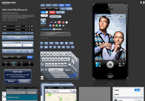 graphics iPhone 5 gui freebie psd
