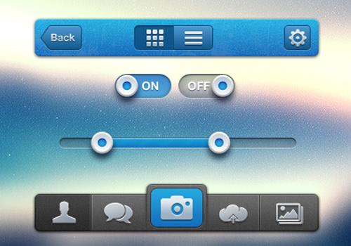 iphone mobile ios ui pack tabbar freebies