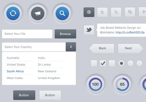 mobile web user interface kit freebie graphics
