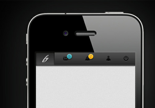 mobile ios navigation buttons toolbar design