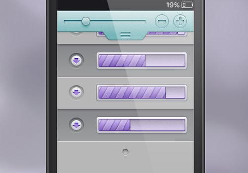 freebie mobile downloads uploads loading interface