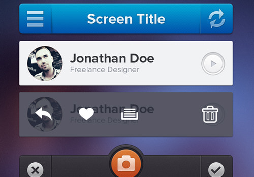 iphone ui freebie psd downloads topbar toolbar