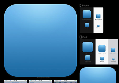 ios app icon templates psd freebie