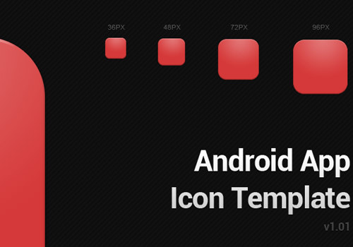 google android play icon app template psd