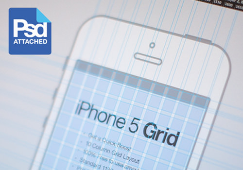 iphone 5 grid template psd freebie